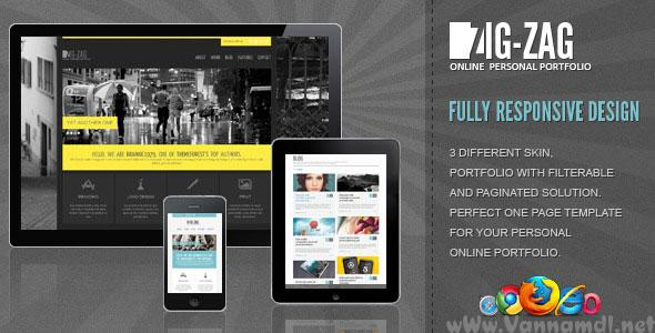 ZigZag - Fully Responsive One Page Template