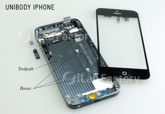 phía bên trong của iphone 5