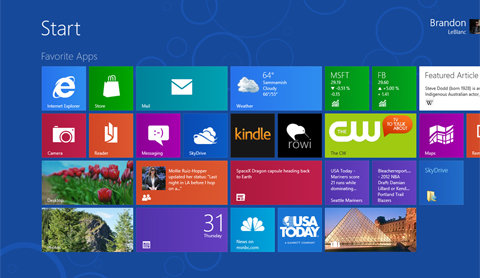 hình ảnh windows 8 rtm trên mạng