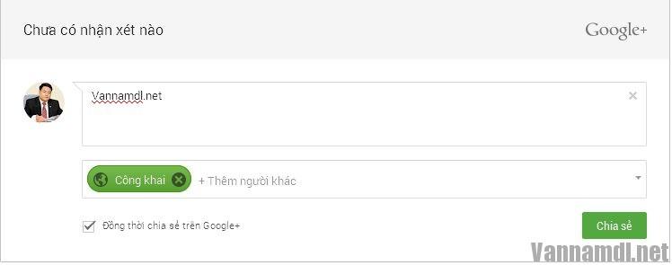 huong dan them comment google+ vao website