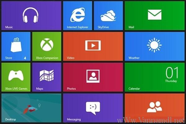 giao diện windows 8 pro và windows RT