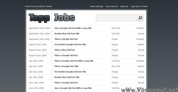 tapp jobs wordpress theme