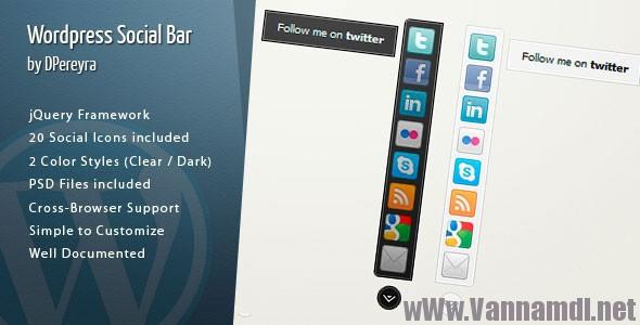 WordPress Social Bar