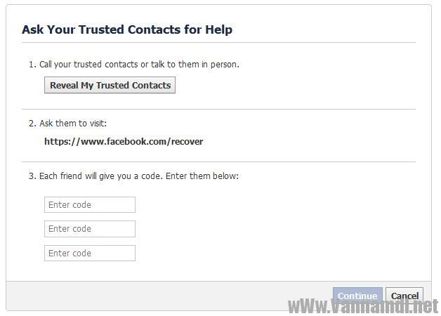 cach lay tai khoan facebook bang trusted contact 10