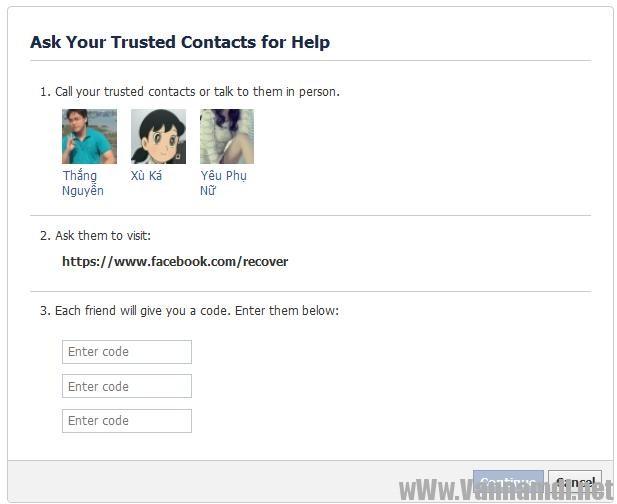 cach lay tai khoan facebook bang trusted contact 12