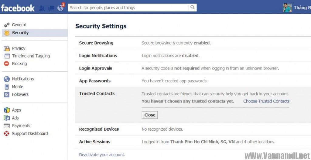 cach lay tai khoan facebook bang trusted contact 3