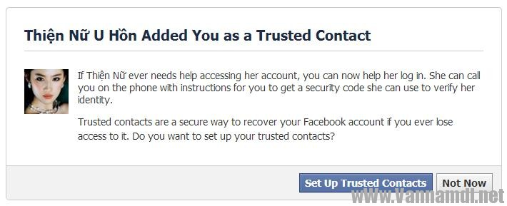 cach lay tai khoan facebook bang trusted contact 7