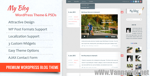 theme blog ca nhan wordpress
